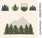 tree outdoor travel pine... | Shutterstock .eps vector #1086287894