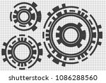 white background super abstract  | Shutterstock . vector #1086288560