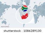 world map centered on america...   Shutterstock .eps vector #1086289130