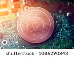 shiny copper simple token... | Shutterstock . vector #1086290843