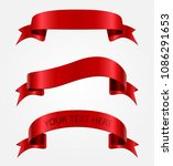 red ribbons.ribbon banners set... | Shutterstock .eps vector #1086291653