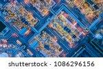oil refinery at night  | Shutterstock . vector #1086296156