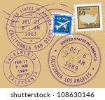 set of usa post stamp symbols ... | Shutterstock .eps vector #108630146