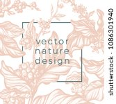 vector graphic floral... | Shutterstock .eps vector #1086301940