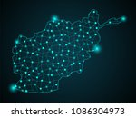 abstract technology digital... | Shutterstock .eps vector #1086304973