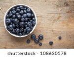 bowl of blueberries | Shutterstock . vector #108630578