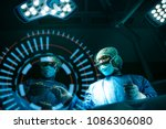 doctor operation in operation... | Shutterstock . vector #1086306080