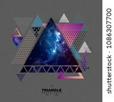 abstract hipster polygonal... | Shutterstock .eps vector #1086307700