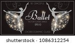 ballet school flyer template.... | Shutterstock .eps vector #1086312254