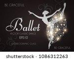 ballet school flyer template....   Shutterstock .eps vector #1086312263