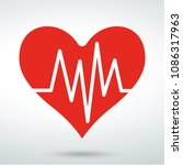 red heart icon | Shutterstock .eps vector #1086317963