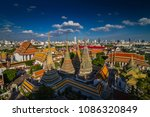 wat pho buddhist temple in... | Shutterstock . vector #1086320849