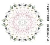floral mandala vector... | Shutterstock .eps vector #1086322553
