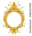 gold vintage frame isolated on... | Shutterstock .eps vector #1086327050