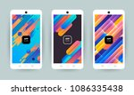 set of backgrounds with trendy... | Shutterstock .eps vector #1086335438