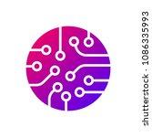 circuit board icon vector....   Shutterstock .eps vector #1086335993