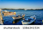 fishing boats on the coast or... | Shutterstock . vector #1086341534