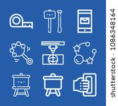 tools related set of 9 icons... | Shutterstock .eps vector #1086348164