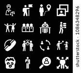 people related set of 16 icons...   Shutterstock .eps vector #1086348296