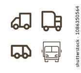 lorry related set of 4 icons...   Shutterstock .eps vector #1086350564