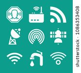 signal related set of 9 icons...   Shutterstock .eps vector #1086353408