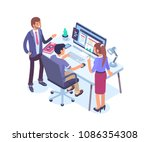 business people characters... | Shutterstock .eps vector #1086354308