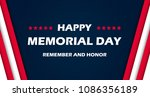 memorial day   remember and...   Shutterstock .eps vector #1086356189