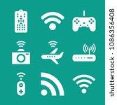 wireless related set of 9 icons ...   Shutterstock .eps vector #1086356408