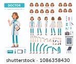 doctor woman character... | Shutterstock .eps vector #1086358430