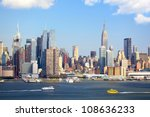manhattan skyline with empire... | Shutterstock . vector #108636233