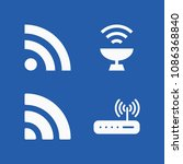 wireless related set of 4 icons ...   Shutterstock .eps vector #1086368840
