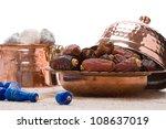 dates  prayer beads and turkish ...   Shutterstock . vector #108637019