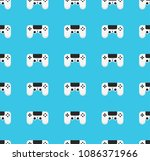 seamless pattern with gamepad.... | Shutterstock .eps vector #1086371966