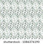 geometric trendy leaves vector... | Shutterstock .eps vector #1086376190