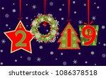 banner for 2019 new year season ...   Shutterstock .eps vector #1086378518