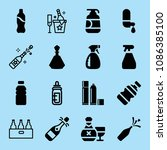 filled bottle icon set such as... | Shutterstock .eps vector #1086385100