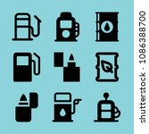 filled gasoline icon set such... | Shutterstock .eps vector #1086388700