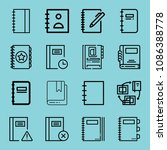 outline bookmark icon set such... | Shutterstock .eps vector #1086388778