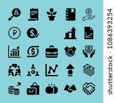 filled business icon set such... | Shutterstock .eps vector #1086393254