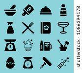 filled food icon set such as... | Shutterstock .eps vector #1086394178