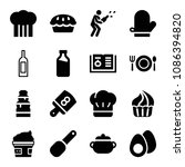 filled food icon set such as...   Shutterstock .eps vector #1086394820