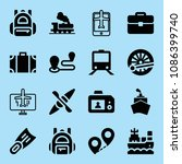 filled travel icon set such as... | Shutterstock .eps vector #1086399740
