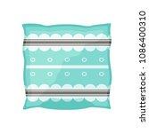 blue pillow on white background | Shutterstock .eps vector #1086400310