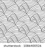 abstract vector seamless floral ... | Shutterstock .eps vector #1086400526