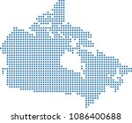 canada dotted map. canada map... | Shutterstock .eps vector #1086400688