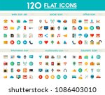 ui and multimedia big icon set | Shutterstock .eps vector #1086403010