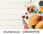 rich continental breakfast...   Shutterstock . vector #1086409958