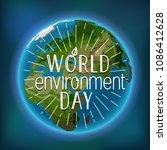 happy world environment day... | Shutterstock .eps vector #1086412628