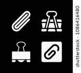 filled set of 4 clip icons such ... | Shutterstock .eps vector #1086416480