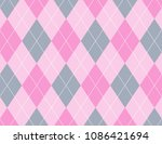 pink and grey argyle background | Shutterstock .eps vector #1086421694